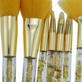 Профессиональные 7PCS макияж щетки Crystal преодоление зыбучих песков основу косметических средств косметические средства смешивания порошка Eyeshadow брови окрашивание макияж набор щеток с мешком для пыли