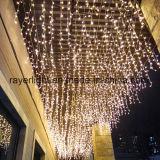 Lumières de Noël commerciales légères de clignotement à la maison de glaçon du décor DEL de clignotement