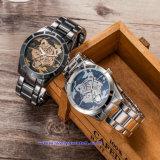 Kundenspezifische Quarz-Armbanduhr-Uhr-Form-Digital-Armbanduhren für Mann (WY-17017F)
