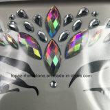 Il bianco popolare degli autoadesivi dell'occhio della festa di Natale della pelle del Rhinestone di Halloween fissa gli autoadesivi colorati gioielli del fronte di cristallo del corpo (FS14)