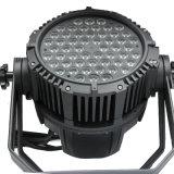 54PCS段階ランプLEDの同価ライト、LEDの移動ズームレンズのビームライト、RGBW LEDの段階ライト