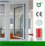 La finestra di alluminio della stoffa per tendine di prezzi di fabbrica con il doppio ha lustrato