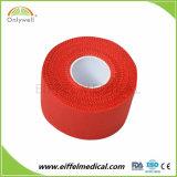 O tecido de algodão adesiva fita desportiva para o futebol basquetebol ataduras de cepas de suporte