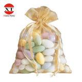 Weicher Organzadrawstring-Geschenk-Beutel, kleiner Drawstring-Organza-Süßigkeit-Verpackungs-Beutel