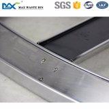 Vuilnisbak van uitstekende kwaliteit van de Draagstoel van het Recycling van het Roestvrij staal van Twee Compartiment van de Fabrikant de Afzonderlijke Binnen Openbare