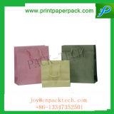 L'impression de couleur personnalisée a tordu le sac à provisions de papier enduit avec le traitement de papier