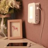 Barrier Mount Charger, 2 USB of port & 4 AC Outlets LED Night Light Charging station, Surge Protected power Socket Extender with Topside Phone Holders Esg10400