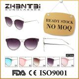 Отсутствие солнечных очков способа MOQ UV400 женских готовых Stock (HFF0046)