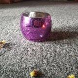 Sostenedor de cristal del tarro del arte púrpura para la decoración casera