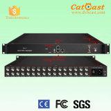 Il rendimento elevato di HP8516t e 8 bassi in 1 modulatore di Mux DVB-T con 16 supporti dell'input del sintonizzatore di DVB-S/S2 FTA si raddoppiano l'alimentazione elettrica (facoltativa)