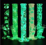Brilha no escuro ou impressão desbotamento plataforma petrolífera do tubo de água de Silicone