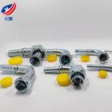 Gomito d'acciaio adatto 26791 femmina di Jic di 90 gradi montaggi di estremità idraulici del tubo flessibile della sede del cono da 37 gradi