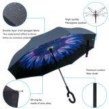 Du Double couche C de traitement parapluie de Sun inversé par inverse directement