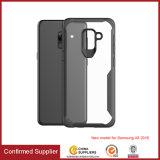 SamsungギャラクシーA8 2018年のための透過明確なアクリルの携帯電話の裏表紙のケース
