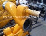 Покрашенный желтым цветом клапан конкретного насоса s Dn230 Pm