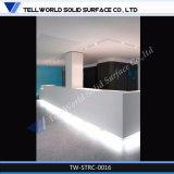 Contatore di marmo lussuoso di ricezione di nuovo disegno/scrittorio anteriore/Tabella di superficie solida di ricezione