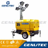 Tour d'éclairage hydraulique du pouvoir de Genlitec (GLT4000-9H) avec l'engine de Perkins