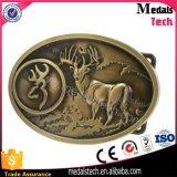 античная таможня пряжки пояса Mens металла Animel формы лошади золота 3D