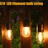 屋外のための10m 10bulbs S14エジソンの球根LEDストリングライト