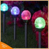 Ändernde im Freien Solarlichter färben knackte Garten-Landschafts-/Bahn-Lichter der Glaskugel-LED für Pfad-Patio-Yard