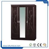 2017 nouvelle conception 3 Portes armoire MDF de placards de PVC en miroir