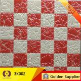 Decoración cristalina Polished blanca negra del azulejo de la pared del suelo de la porcelana (3K001)