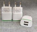 OEM 2.5 een Dubbele Lader van de Reis van de Haven USB voor Mobiele Telefoon