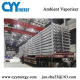 Vaporizzatore criogenico ad alta pressione dell'aria ambientale del gas dell'azoto liquido