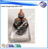 Yjv32 XLPE изоляцией ПВХ пламенно тонкая стальная проволока бронированные кабель питания