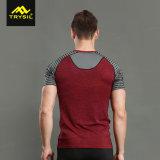 2018 camice esterne personalizzate di forma fisica delle camice degli uomini della maglietta di sport