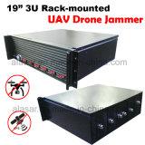 interceptación Rack-Mounted 433, 915, 2.4, GPS, del abejón del Uav de 19inch 3u emisión 5.8g