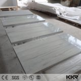 Parte superior de superfície contínua da vaidade do banheiro da textura de Corian