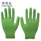 泡乳液のコーティングポリエステル販売のための働く安全手袋