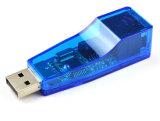 Adaptador de rede USB 2.0, suporta 10Mbps e 100Mbps Automatic-Negotiation N-vias operando