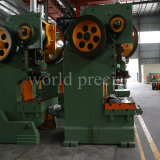 Estampado de lámina metálica Máquina punzonadora J23 80 Ton excéntrico de la máquina prensa eléctrica Tipo C