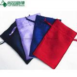 印刷されるロゴの卸し売り顧客用ドローストリングのサテン袋の袋