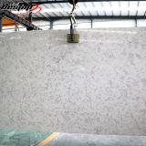 Quartz extérieur lustré élevé de résistance de brouillon de brames en pierre artificielles blanches