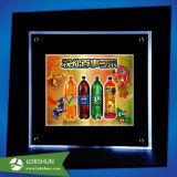 Vin Plexigalss OEM Affichage LED de rack, 3 niveaux de bouteille de vin de liqueur d'affichage acrylique