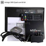 Cadre du faisceau TV de quarte de Mxq Amlogic S805 avec le boîtier décodeur du WiFi 2.4GHz du BT 4.0