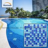 Красивые Водонепроницаемый для использования внутри помещений 23X23 стеклянной мозаики бассейн плитки