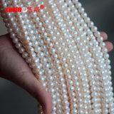 8-9mm weißer kultivierter Perlen-Zeichenkette-materieller Frischwassergroßverkauf, Zhuji-Perlen