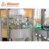 ガラスビンビール満ちる醸造機械