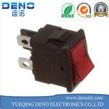 Interruptor de eje de balancín rojo cuadrado de 2 Pin Spst