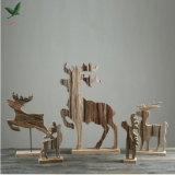 Natürliches hölzernes Rotwild-Dekoration-Geschenk für Hauptdekoration