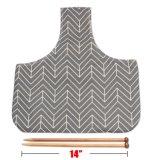 Fios de lona dobrável para armazenamento de agulhas de tricô Organizador Sacola grande para pequeno projecto