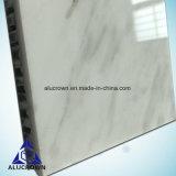 白い大理石の合成アルミニウム蜜蜂の巣コアパネル