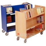 Mobile Buch-Regal-Entwurfs-Bibliotheks-Laufkatze
