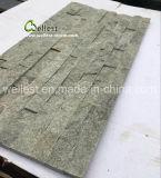 벽지 판자벽을%s 자연적인 녹색 규암 선반 돌