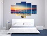 Grosse Größen-moderner Wohnzimmer-Wand-Dekor-Ausgangsdekor-Meerblick-Sonnenaufgang-Wand-Kunst-Abbildung-Druck-Farbanstrich auf Segeltuch gedruckter Kunst