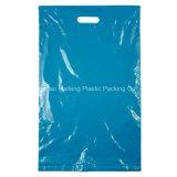 Dongguan cortó el bolso de compras con tintas plástico al por menor impreso aduana del OEM de la maneta del sacador